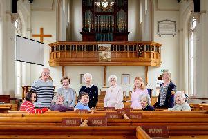 Some of the members of crafts and arts groups at Abbey Hill United Reformed Church.