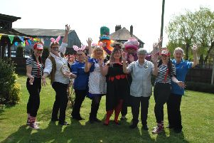 The team at Toray Pines got into the spirit of Easter for their annual egg hunt by dressing up in costumes EMN-190430-101923001