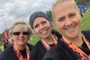 Debbie, Zoe and Andrea at the North Lincolnshire Half-Marathon EMN-190605-114327002