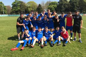 Selsey under-18s - champions of Sussex