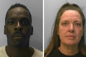 Aldo Oringa (left) and Donna Faulkner were jailed for their part in the cocaine supply. Pictures: Sussex Police