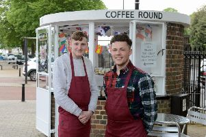 Managers Alex Harris (left) and Charlie Fay at the Coffee Round