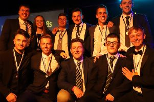 There was a steady flow of sporting award winners on stage / Picture by Katie Corr