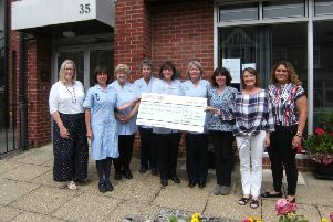 Cheque presentation to The Rosemary Foundation