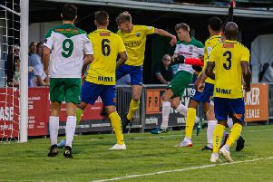 Tommy Leigh converts a corner / Picture by Tommy McMillan