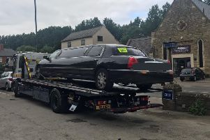 The limo was taken off the road
