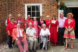 Members of Alford in Bloom, plus supporters and judges.