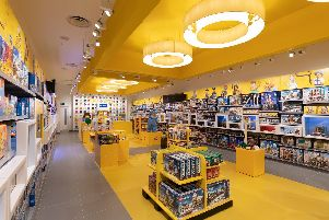 Inside a Lego store. Picture: Tom Nicholson/PinPep