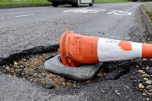 A pothole in West Sussex. Pic by Steve Robards