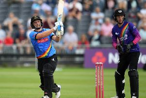 Luke Wright scores runs against Gloucestershire - but the skipper says the selfless Sharks bowlers deserve plenty of praise / Picture by Getty Images