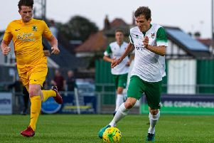 Stuart Green on the ball against Horsham / Picture by Tommy McMillan