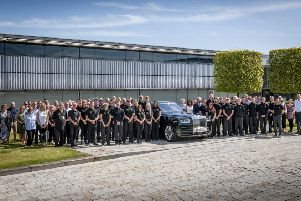 Rolls-Royce Motor Cars apprenticeship scheme starters 2019 with their proud family members