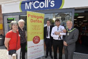 Polegate Defibrillator Group with council officials (Photo by Jon Rigby)
