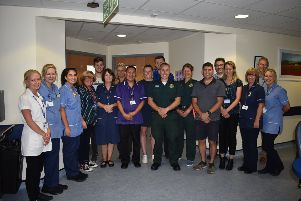 Health workers at the Pevensey Ward