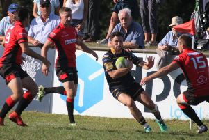 Henry Anscombe in action at Bournemouth. Picture by Colin Coulson