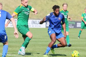 Action from Lewes v Horsham. Picture by Angela Brinkhurst