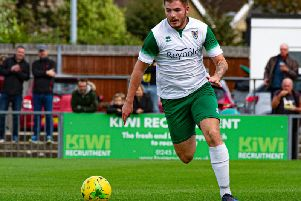 Brad Lethbridge on the charge for the Rocks in their recent win over Haringey / Picture by Tommy McMillan