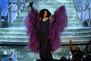 Diana Ross on stage. Getty Images