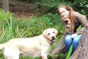 Jo Jacques from with her dog Bailey
