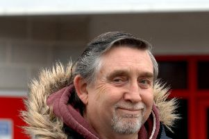 Crawley Town season ticket holder Geoff Thornton.'Picture by Steve Robards