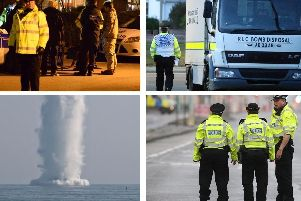 The bomb disposal squad has been called out in Sussex several times in recent years, usually to deal with unexploded shells from wartime
