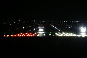 Gatwick Airport runway during the disruption due to alleged drone sightings. Photo by Eddie Mitchell