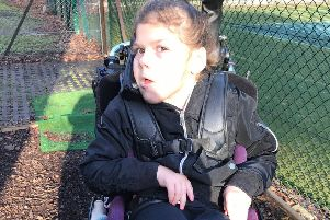 Izzy has launched an appeal to buy a wheelchair swing for the garden at Finches in Burgess Hill
