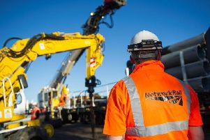Network Rail work on the Brighton Mainline