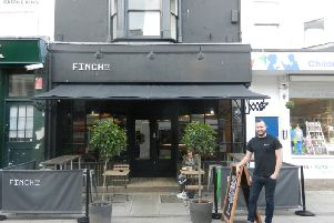 Tom Lines in front of Finch in Warwick Street SUS-191102-171725001