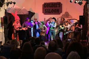 A performance of this year's Hardwick pantomime - The Wild West Show