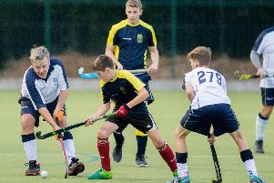 Action from the 6th v 7th team club derby in November. They two sides meet again this weekend at Hart Field, 3.30pm.