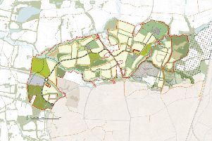 Northern Arc outline masterplan. Homes England is delivering the more than 3,000 homes north of Burgess Hill