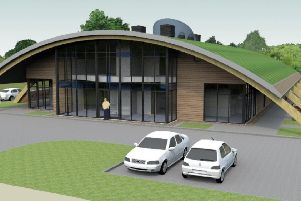 An artist's impression of the new church