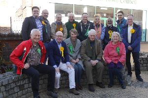 Burgess Hill Lib Dem and Green party members