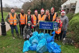 Haywards Heath residents taking part in a previous litter pick over Christmas