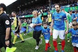 Lisa Stonier was a mascot for Pompey's League One clash against Scunthorpe on her 50th birthday
