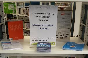 The Aylesbury Vale Diabetes Group UK  have kindly donated books to help public awareness