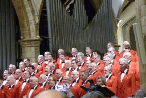 The London Welsh Male Voice Choir at St Mary's Church, Horsham
