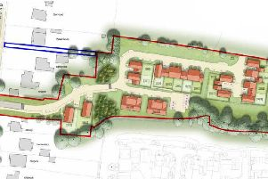 Proposed layout of new homes