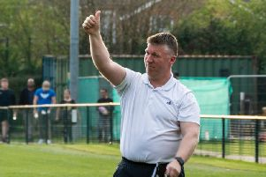 Simon Wormull gives a thumbs up after the Merstham victory