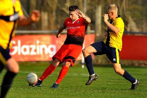 Lewis Westlake in action against Eastbourne Town