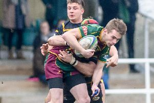 Harry Spears (pictured earlier this season) and fellow Colt Dan Price contributed 18 points against Earlsdon on Saturday