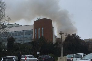Fire in Crawley town centre. Photo by Anna Khoo SUS-190704-124446001