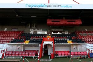 Crawley Town's renamed ground The People's Pension Stadium.'Picture courtesy of Crawley Town. SUS-181218-140355002