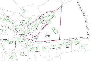 Location plan for six homes near East Grinstead