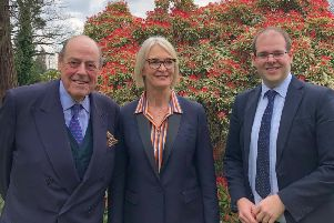 Sir Nicholas Soames, minister Margot James and Jonathan Ash-Edwards