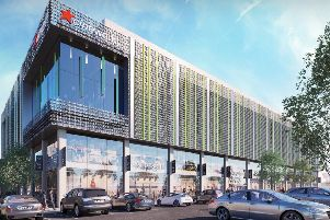 An artist's impression of the regeneration of The Martlets shopping centre in Burgess Hill