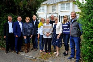 Delighted residents and councillors in Park Road, Burgess Hill. Photo by Steve Robards