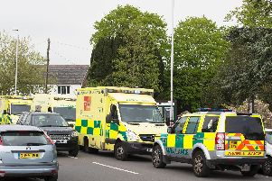 The emergency services were called to the graveyard next to St Mary's Church in Broadwater