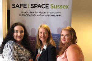 PCC Katy Bourne (centre) has assigned 50,000 of funding to the charity